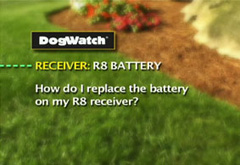 How do I replace the battery on my R8 receiver?