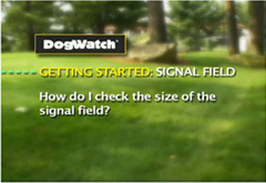 How do I check the size of the signal field?